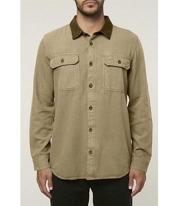 オニール メンズ シャツ トップス Long-Sleeve Mountaintop Shirt Jacket Khaki