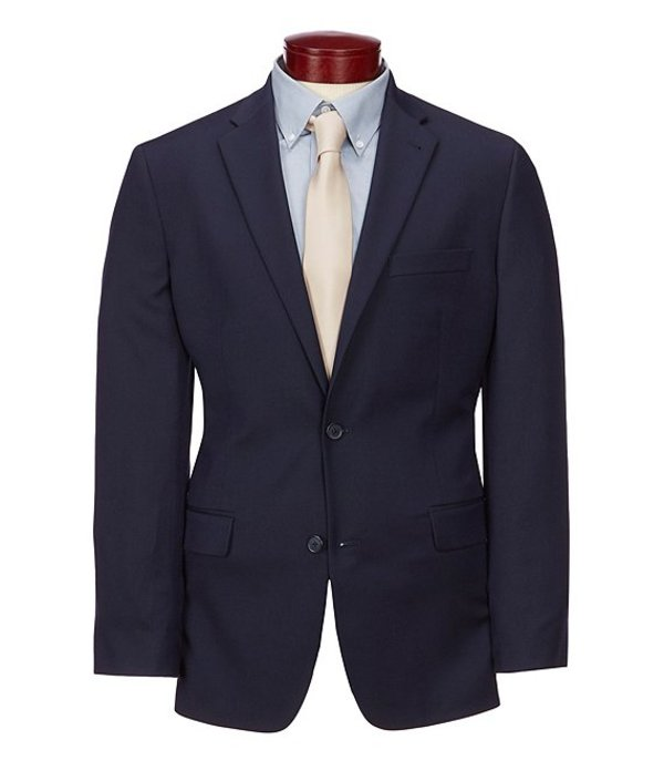ムラノ メンズ ジャケット・ブルゾン アウター Big & Tall Wardrobe Essentials Classic-Fit Suit Separates Twill Blazer Navy