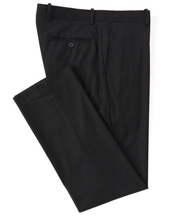 ダニエル クレミュ メンズ カジュアルパンツ ボトムス Daniel Cremieux Signature Solid Classic-Fit Flat-Front Dress Pants Black
