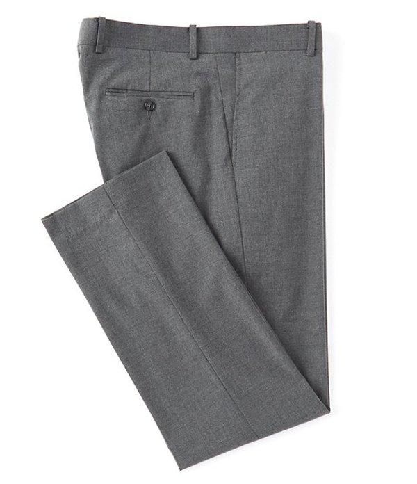 ダニエル クレミュ メンズ カジュアルパンツ ボトムス Daniel Cremieux Signature Solid Classic-Fit Flat-Front Dress Pants Grey