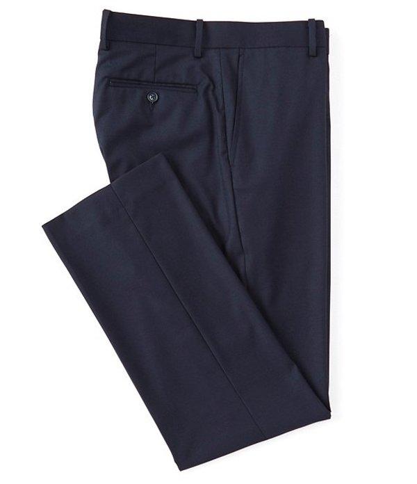 ダニエル クレミュ メンズ カジュアルパンツ ボトムス Daniel Cremieux Signature Solid Classic-Fit Flat-Front Dress Pants Navy