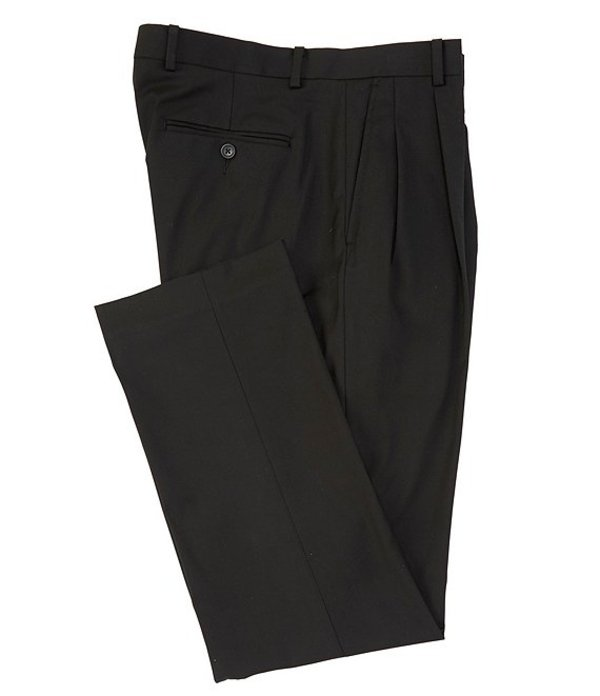 ダニエル クレミュ メンズ カジュアルパンツ ボトムス Daniel Cremieux Signature Solid Pleated Dress Pants Black