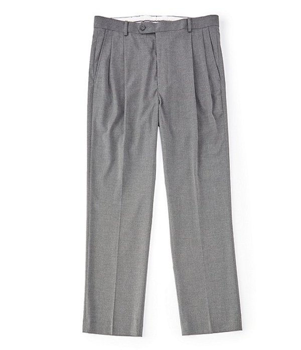 ダニエル クレミュ メンズ カジュアルパンツ ボトムス Daniel Cremieux Signature Solid Pleated Dress Pants Grey