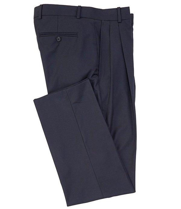 ダニエル クレミュ メンズ カジュアルパンツ ボトムス Daniel Cremieux Signature Solid Pleated Dress Pants Navy