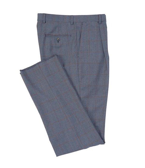 ハート シャフナー マルクス メンズ カジュアルパンツ ボトムス Classic Fit Windowpane Wool Dress Pants Light Blue