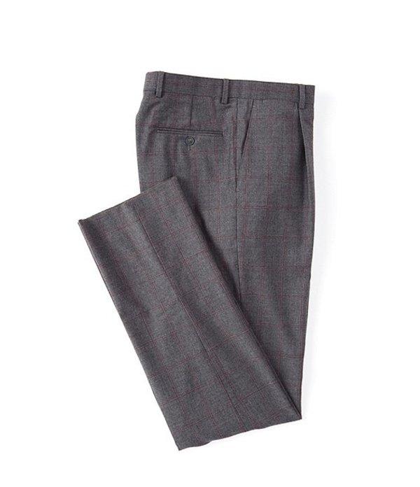 ハート シャフナー マルクス メンズ カジュアルパンツ ボトムス Classic Fit Windowpane Wool Dress Pants Medium Grey