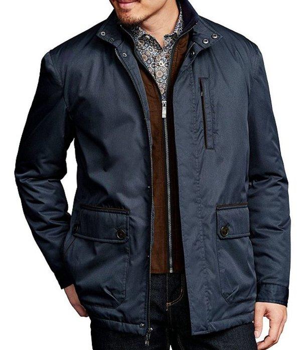 ジョンストンアンドマーフィー メンズ ジャケット・ブルゾン アウター Water-Resistant Twill Jacket Navy