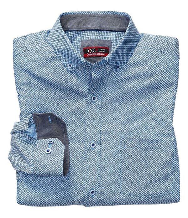 ジョンストンアンドマーフィー メンズ シャツ トップス XC4 Non-Iron Petal Print Stretch Long-Sleeve Woven Shirt Blue Multi