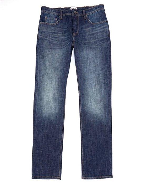 ウィリアム ラスト メンズ デニムパンツ ボトムス Hixson Straight-Fit 5-Pocket Whiskered Denim Jeans Lagoon Wash