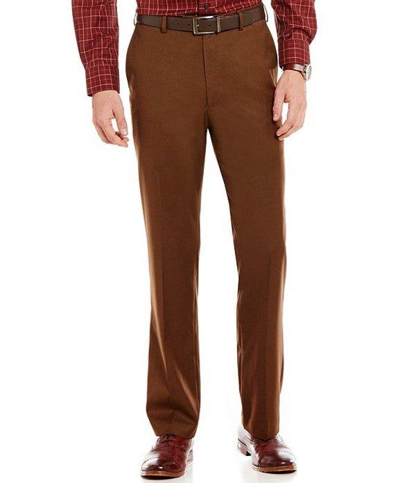 ラウンドトゥリーアンドヨーク メンズ カジュアルパンツ ボトムス Travel Smart Ultimate Comfort Classic Fit Flat Front Non-Iron Twill Dress Pants Brown