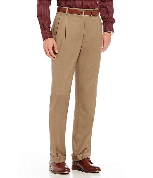 ラウンドトゥリーアンドヨーク メンズ カジュアルパンツ ボトムス Travel Smart Ultimate Comfort Classic Fit Pleat Front Non-Iron Twill Dress Pants Khaki
