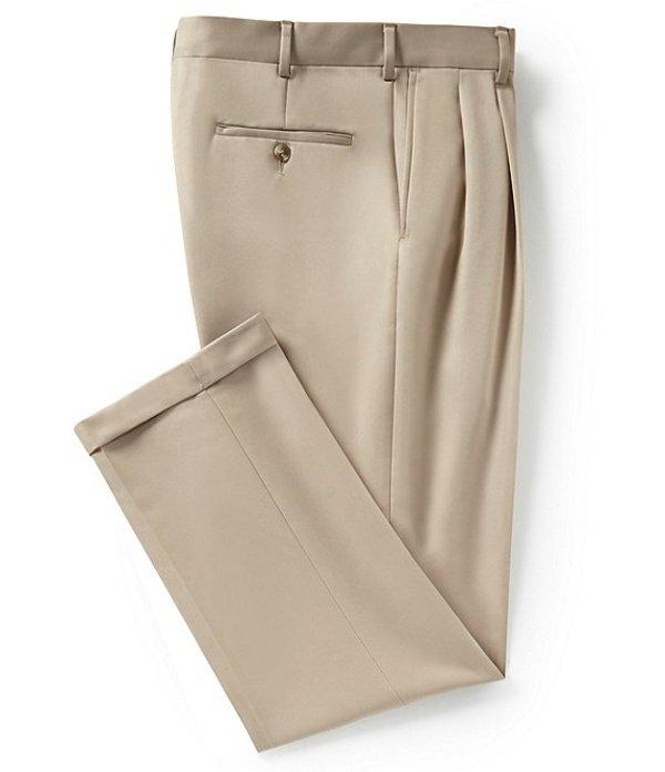 ラウンドトゥリーアンドヨーク メンズ カジュアルパンツ ボトムス Travel Smart Non-Iron Pleated Ultimate Comfort Microfiber Stretch Dress Pants Light Khaki