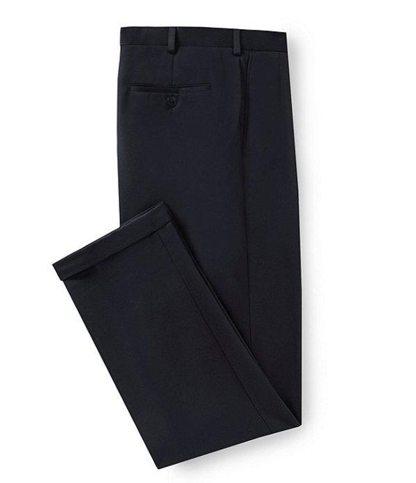 ラウンドトゥリーアンドヨーク メンズ カジュアルパンツ ボトムス Travel Smart Non-Iron Pleated Ultimate Comfort Microfiber Stretch Dress Pants Navy