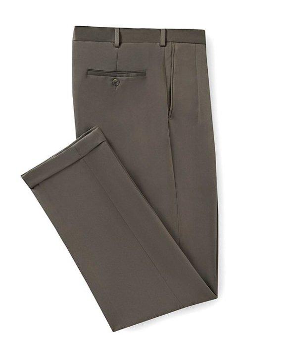 ラウンドトゥリーアンドヨーク メンズ カジュアルパンツ ボトムス Travel Smart Non-Iron Pleated Ultimate Comfort Microfiber Stretch Dress Pants Olive