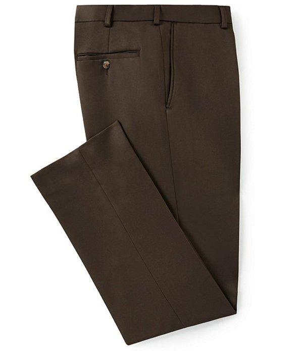 ラウンドトゥリーアンドヨーク メンズ カジュアルパンツ ボトムス Classic Fit Travel Smart Flat Front Microfiber Stretch Dress Pants Brown