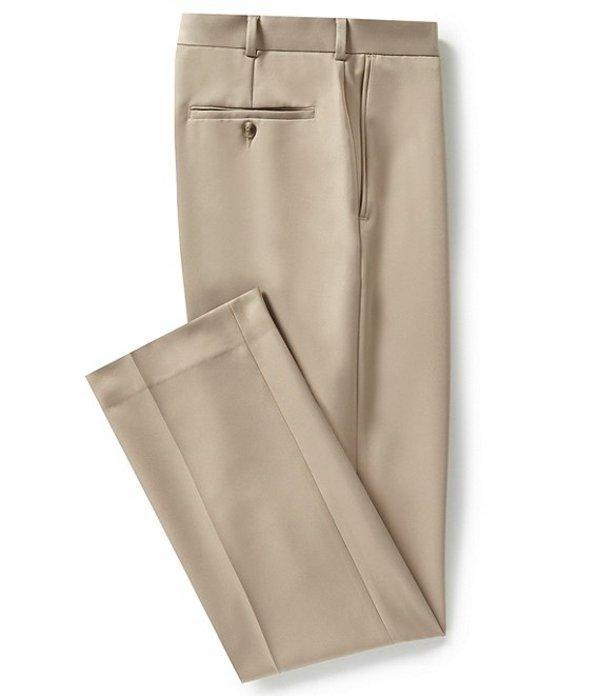 ラウンドトゥリーアンドヨーク メンズ カジュアルパンツ ボトムス Classic Fit Travel Smart Flat Front Microfiber Stretch Dress Pants Light Khaki