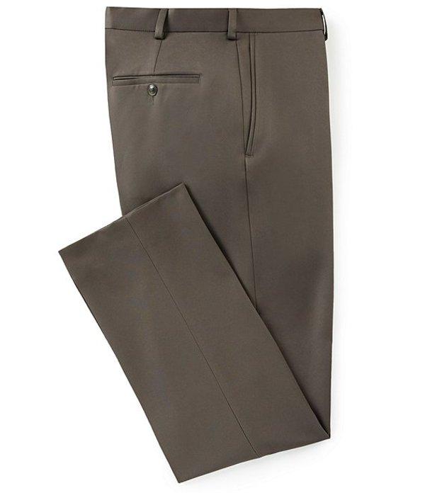 ラウンドトゥリーアンドヨーク メンズ カジュアルパンツ ボトムス Classic Fit Travel Smart Flat Front Microfiber Stretch Dress Pants Olive