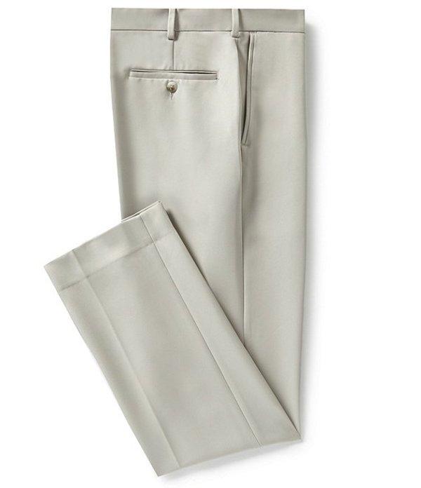 ラウンドトゥリーアンドヨーク メンズ カジュアルパンツ ボトムス Classic Fit Travel Smart Flat Front Microfiber Stretch Dress Pants Tan