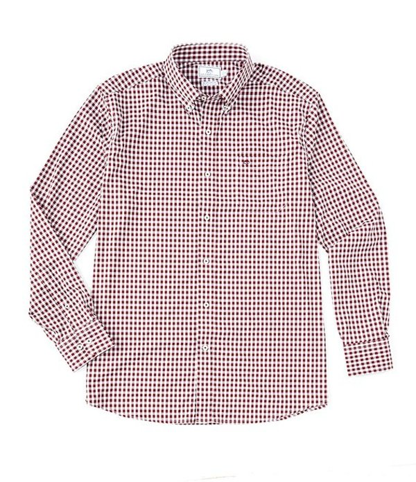 サウザーンタイド メンズ シャツ トップス Intercoastal Centerline Gingham Long-Sleeve Woven Shirt Black Cherry