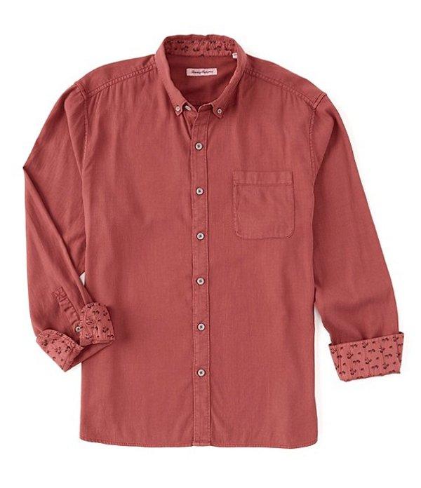 トッミーバハマ メンズ シャツ トップス Huntington Herringbone Long-Sleeve Woven Shirt Rhody Red