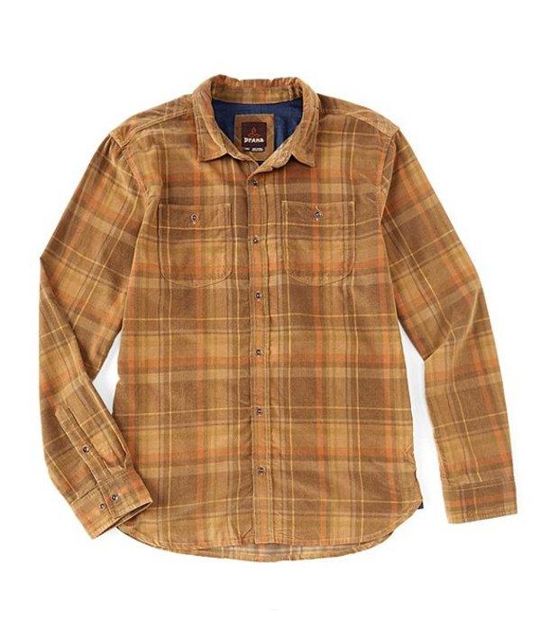 プラーナ メンズ シャツ トップス PrAna Dooley Plaid Long-Sleeve Woven Shirt Bed Rock