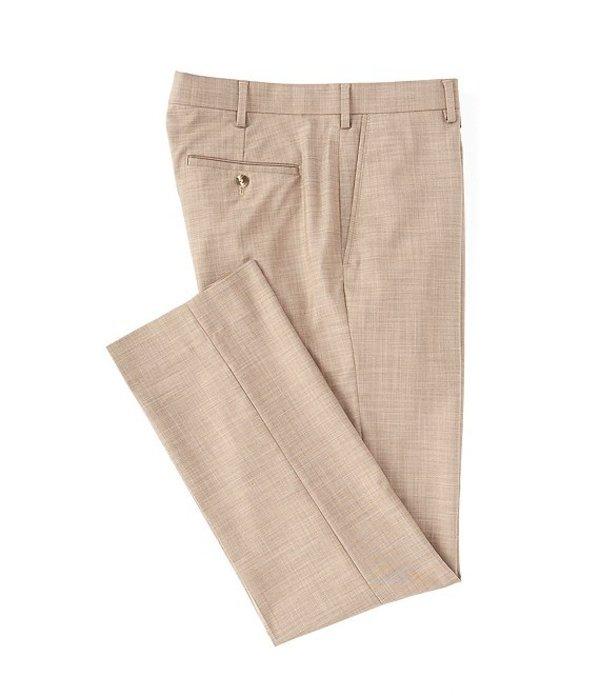 ラウンドトゥリーアンドヨーク メンズ カジュアルパンツ ボトムス TravelSmart Flat-Front Relaxed Checked Dress Pants Brown