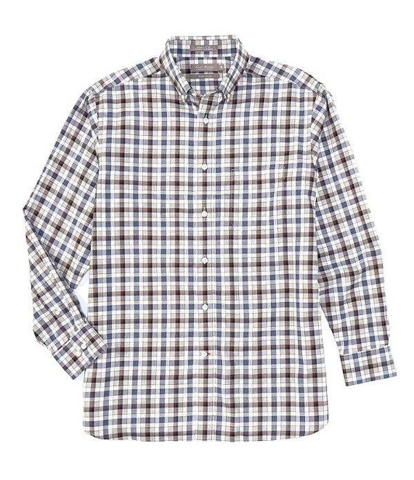 ダニエル クレミュ メンズ シャツ トップス Daniel Cremieux Signature Non-Iron Heather Plaid Long-Sleeve Woven Shirt Grey Heather