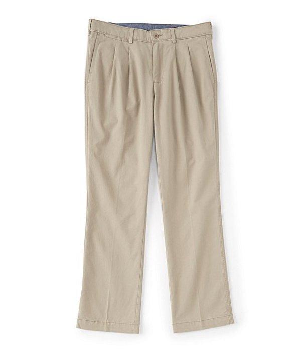 ダニエル クレミュ メンズ カジュアルパンツ ボトムス Madison-Fit Pleated Twill Chino Casual Pants Khaki