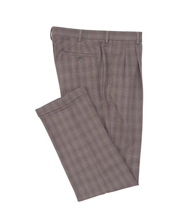 ラウンドトゥリーアンドヨーク メンズ カジュアルパンツ ボトムス TravelSmart Pleated Checked Dress Pants Grey