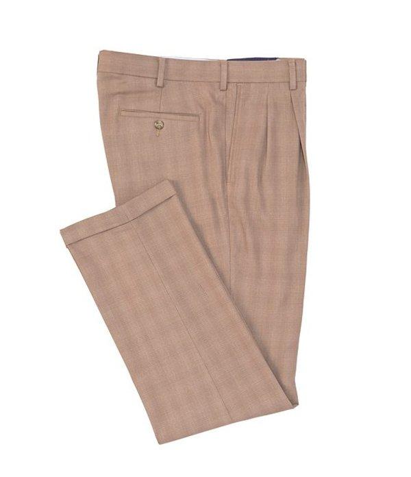 ラウンドトゥリーアンドヨーク メンズ カジュアルパンツ ボトムス TravelSmart Pleated Checked Dress Pants Tan