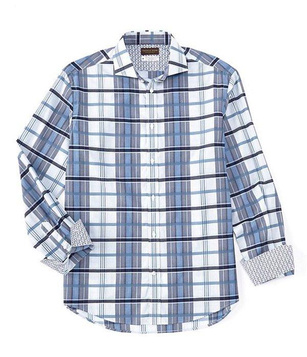 トーマスディーン メンズ シャツ トップス Multi-Check Long-Sleeve Woven Shirt Blue