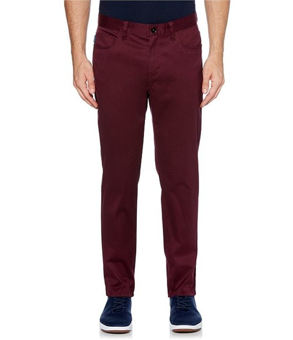 ペリーエリス メンズ カジュアルパンツ ボトムス Slim-Fit Stain-Resistant Wrinkle-Resistant Stretch 5-Pocket Pants Fig