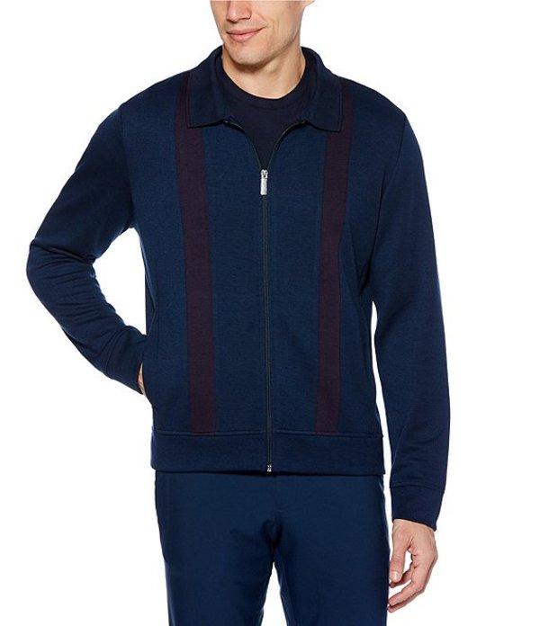 ペリーエリス メンズ ジャケット・ブルゾン アウター Stripe Stretch Full-Zip Jacket Dark Sapphire