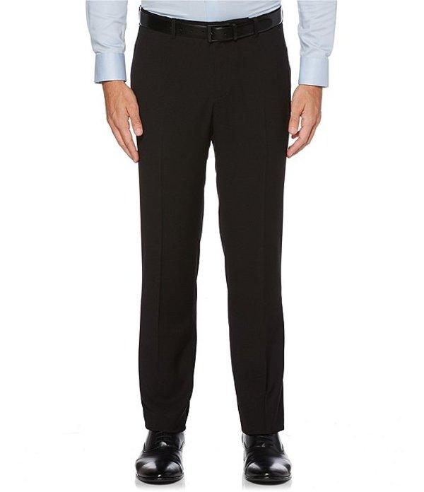 ペリーエリス メンズ カジュアルパンツ ボトムス Big & Tall Non-Iron Solid Stretch Flat-Front Suit Separates Dress Pants Black