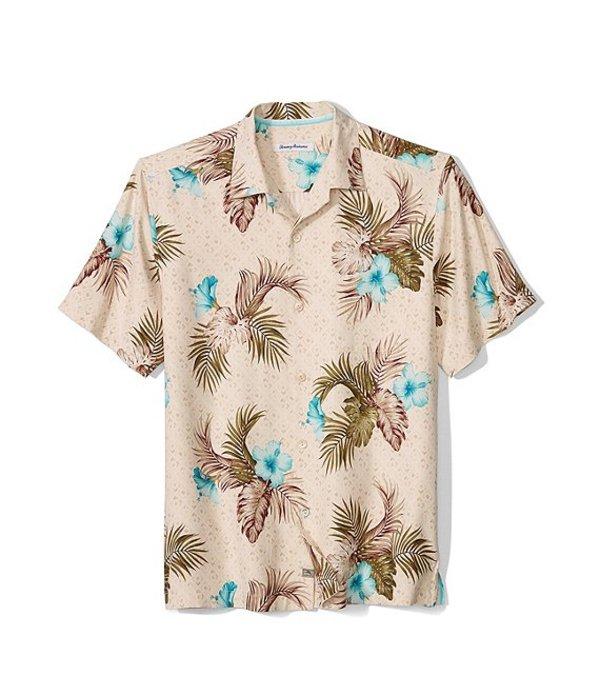 トッミーバハマ メンズ シャツ トップス Big & Tall Flora Breeze Way Short-Sleeve Woven Shirt Marble Cream