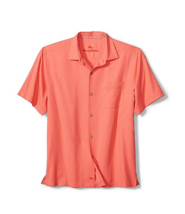 トッミーバハマ メンズ シャツ トップス Catalina Stretch Twill Short-Sleeve Woven Shirt Dark Coral