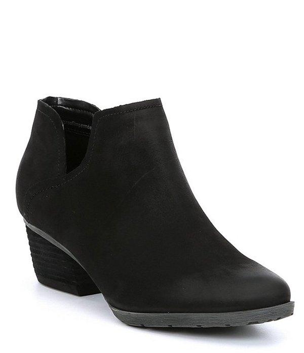 ブロンド レディース ブーツ・レインブーツ シューズ Victoria Waterproof Suede Block Heel Booties Black