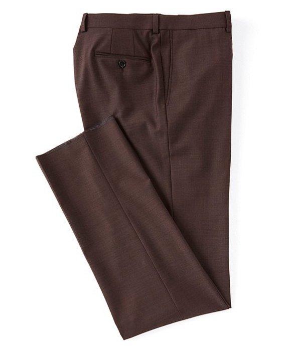 ダニエル クレミュ メンズ カジュアルパンツ ボトムス Modern Fit Flat Front Solid Dress Pants Burgundy