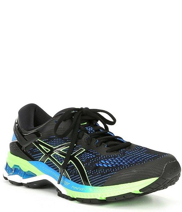 アシックス メンズ スニーカー シューズ Men's GEL-Kayano 26 Running Shoe Black/Electric Blue