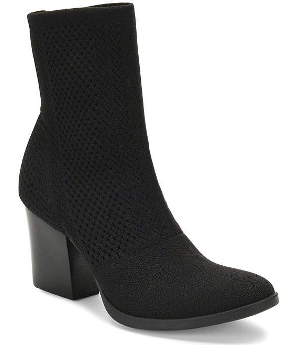 ボーン レディース ブーツ・レインブーツ シューズ Meggs Too Stretch Knit Block Heel Booties Black