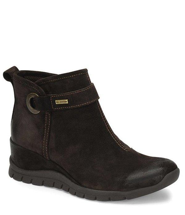 ビオニカ レディース ブーツ・レインブーツ シューズ Ozark Collection Ocala Waterproof Suede Ankle Booties Dark Brown