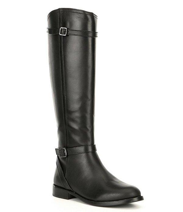 アントニオ メラーニ レディース ブーツ・レインブーツ シューズ Candess Leather Tall Shaft Riding Boots Black