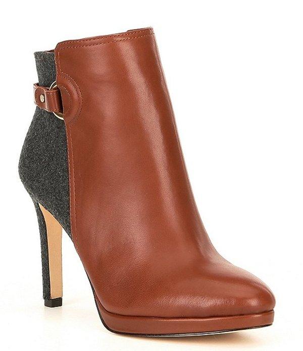 アントニオ メラーニ レディース ブーツ・レインブーツ シューズ Knightlee Leather Dress Booties Chestnut/Grey