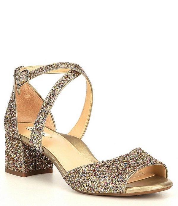 アレックスマリー レディース サンダル シューズ SeylandTwo Glitter Block Heel Dress Sandals Gold/Multi