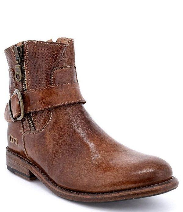 ベッドステュ レディース ブーツ・レインブーツ シューズ Becca Leather Block Heel Booties Tan Rustic