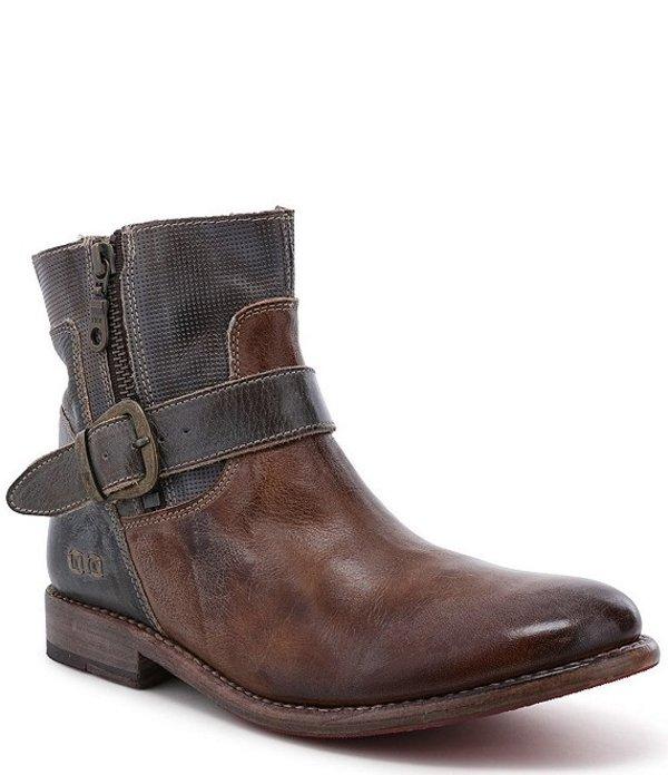 ベッドステュ レディース ブーツ・レインブーツ シューズ Becca Leather Block Heel Booties Taupe Tan Rustic