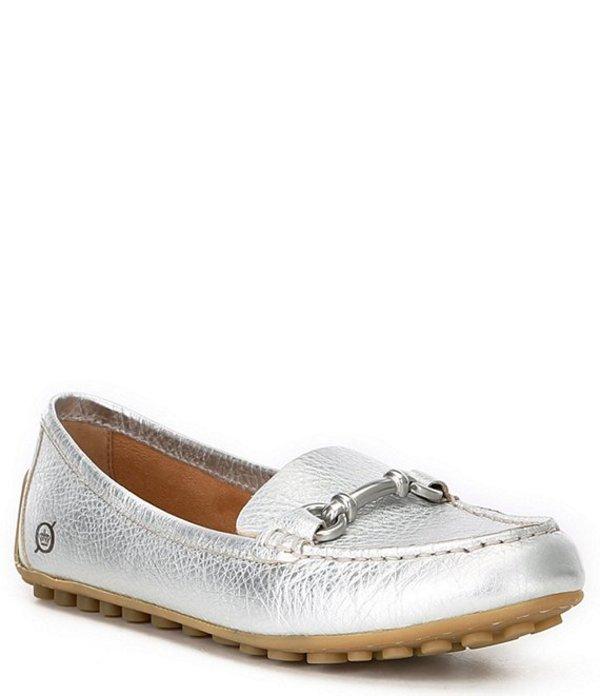 登場! ボーン レディース パンプス シューズ Magnolia Leather Ballet Flats Silver, 雑貨屋ポン 441999b1