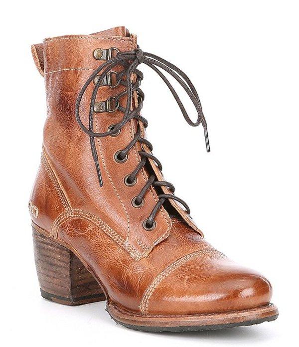 ベッドステュ レディース ブーツ・レインブーツ シューズ Judgement Leather Block Heel Combat Boots Tan Rustic
