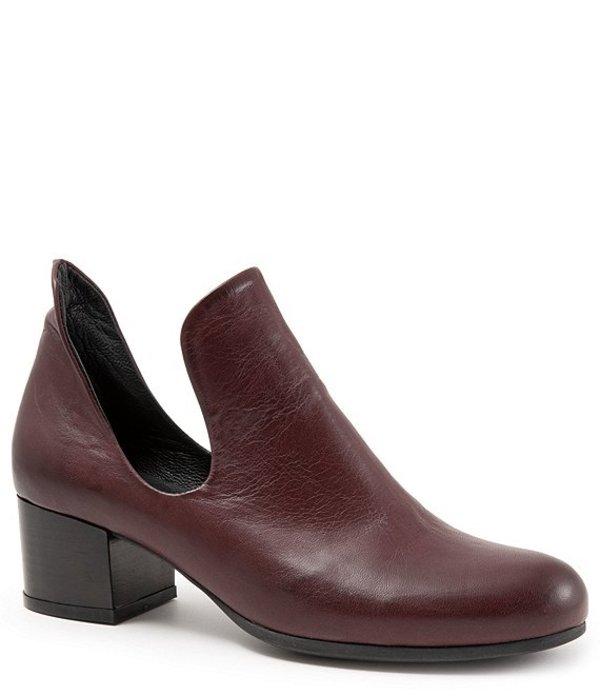 ブエノ レディース ブーツ・レインブーツ シューズ Mick Leather Block Heel Booties Bordeaux