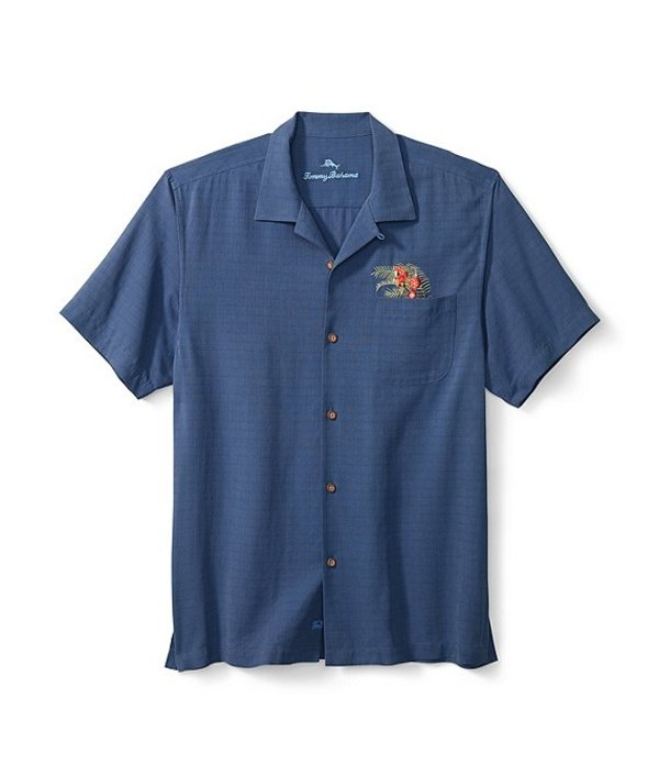トッミーバハマ メンズ シャツ トップス Oh Tan And Palm Short-Sleeve Woven Shirt Dockside Blue